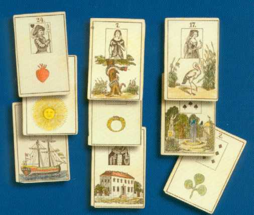 historische lenormand karten mit buch von bernd a mertz. Black Bedroom Furniture Sets. Home Design Ideas